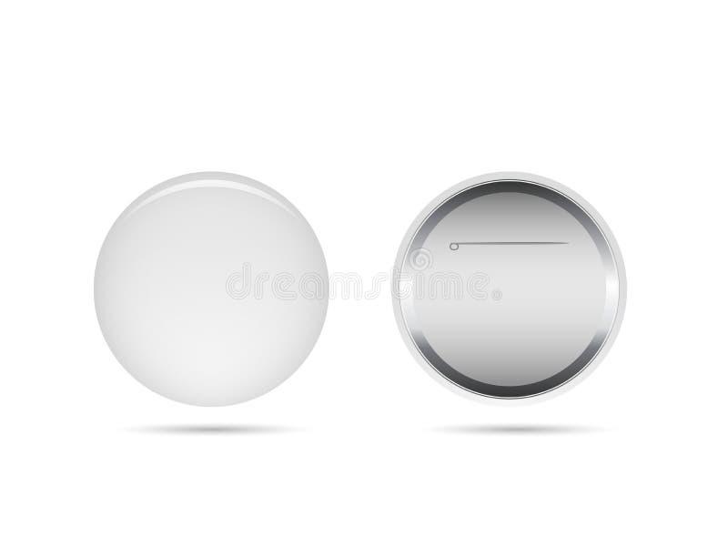 空白的按钮Pin 向量例证