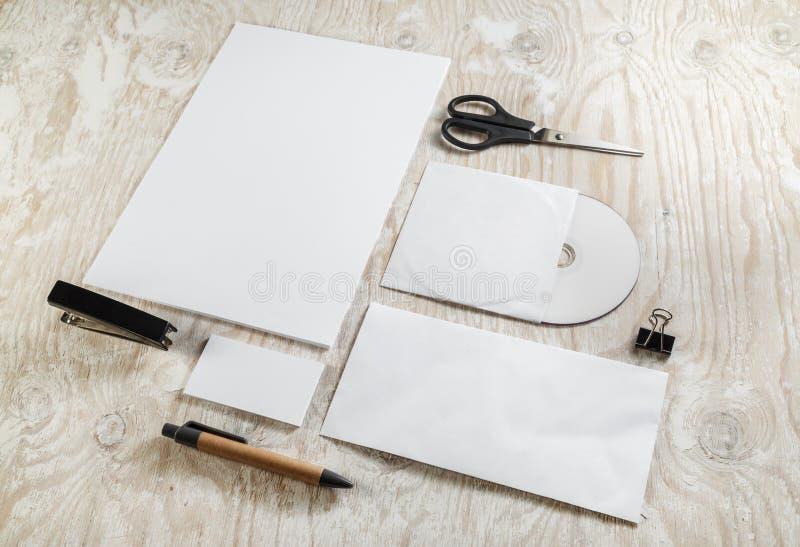 空白的文具大模型 库存照片
