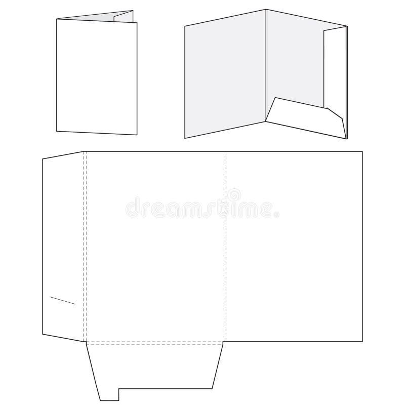 空白的文件夹模板 向量例证