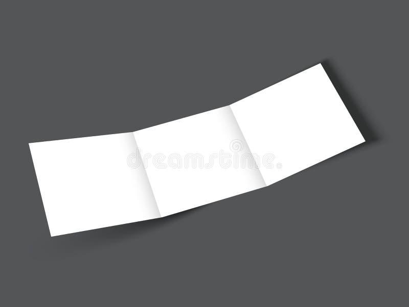 空白的方形的三部合成的小册子大模型盖子模板 库存例证