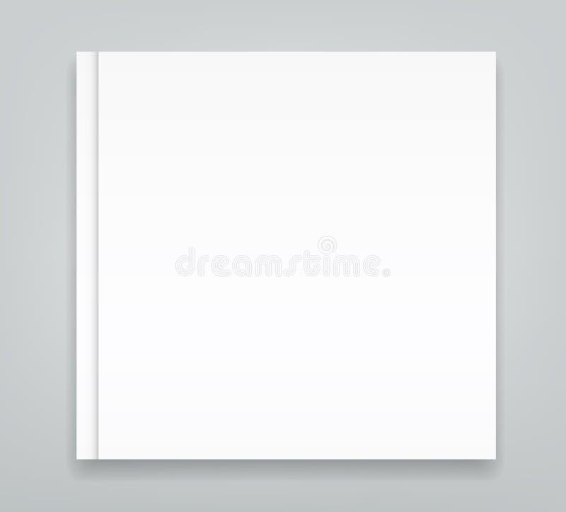 空白的方形的杂志编目小册子大模型盖子模板 向量例证