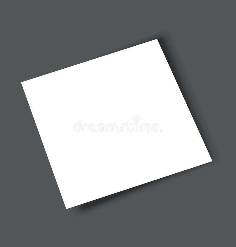 空白的方形的杂志编目小册子大模型盖子模板 库存例证
