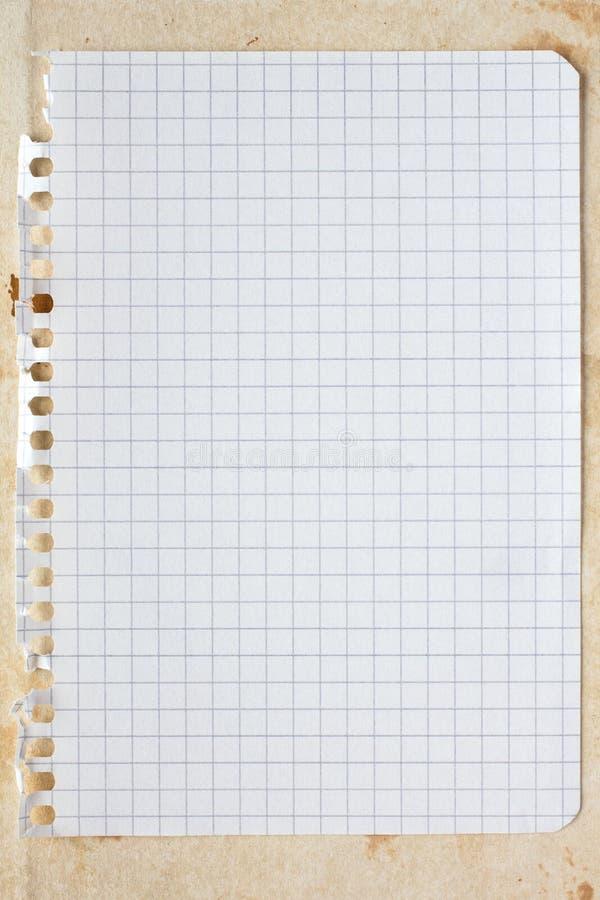 空白的方形的纸片 免版税库存图片