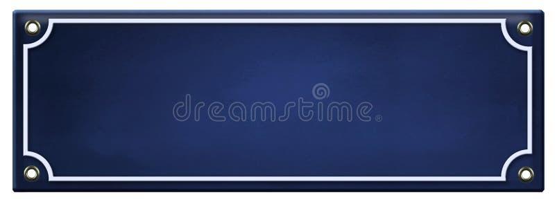 空白的标志模板搪瓷 库存照片