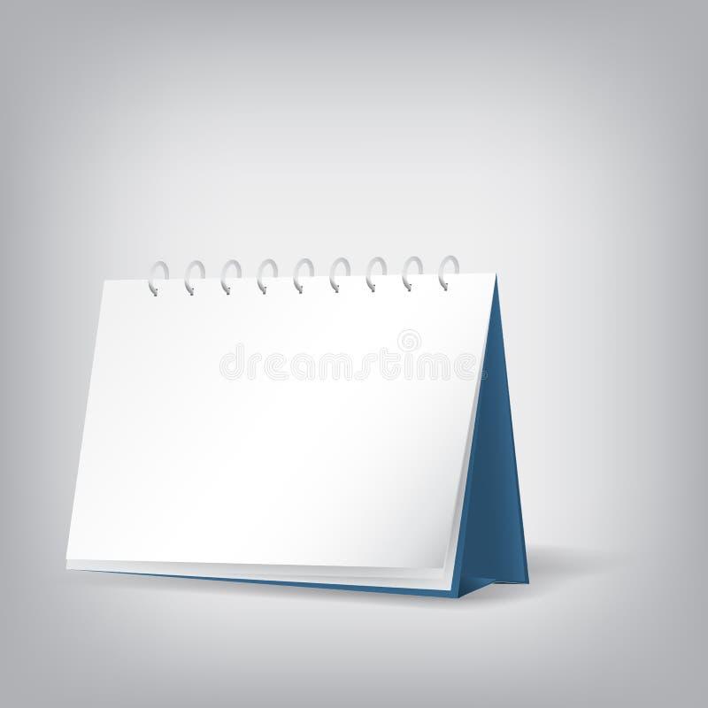 空白的桌面日历 向量例证