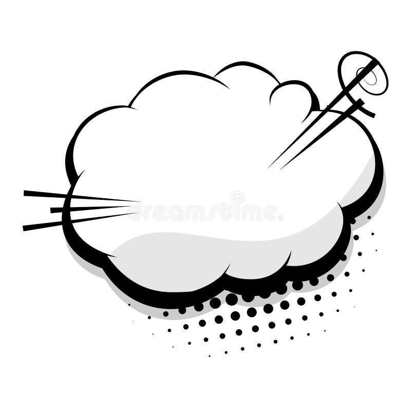 空白的模板可笑的讲话云彩泡影 皇族释放例证
