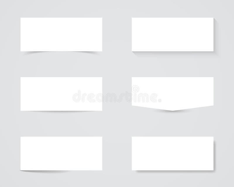 空白的正文框阴影 库存照片