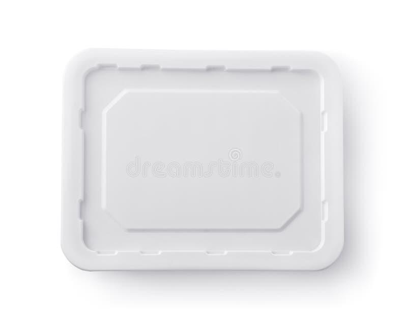 空白的泡面箱子盒盖顶视图  免版税库存图片