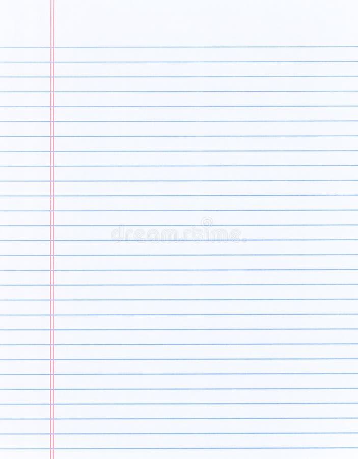 空白的活页笔记本纸背景 免版税库存照片