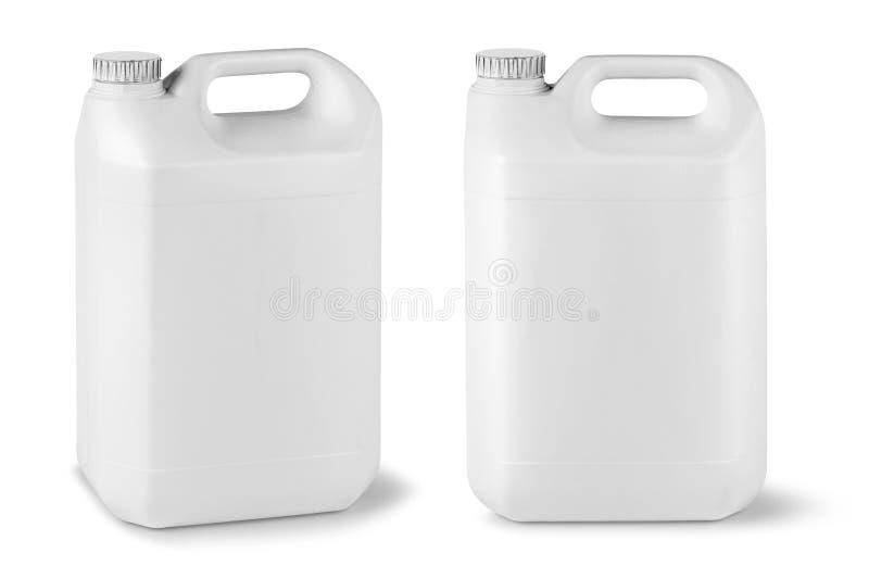 空白的流动罐 免版税库存照片