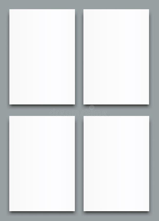 空白的海报双折叠小册子大模型盖子模板 库存例证