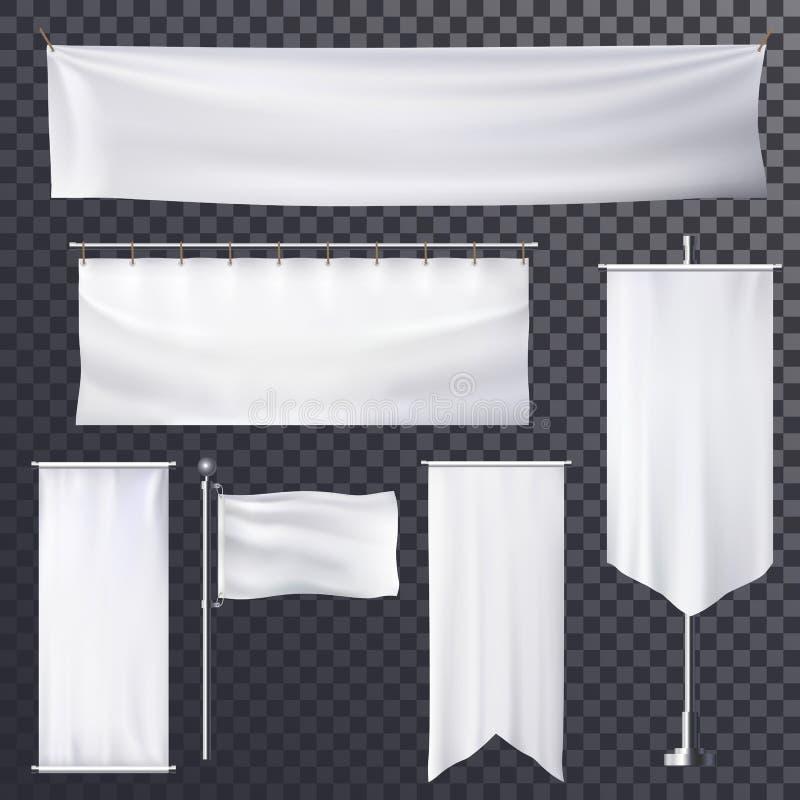 空白的海报或横幅垂悬的框架模板 向量例证