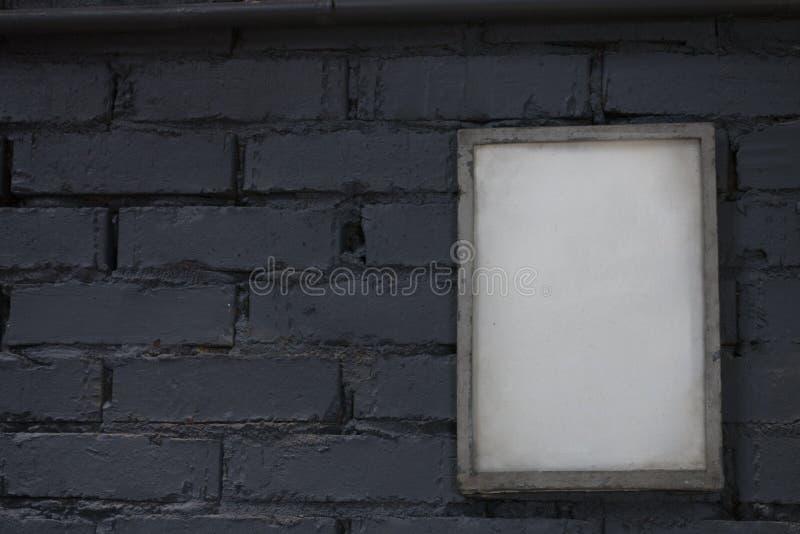 空白的海报画框的嘲笑 图库摄影