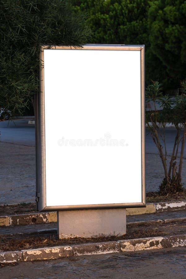 空白的清楚的广告牌 库存图片