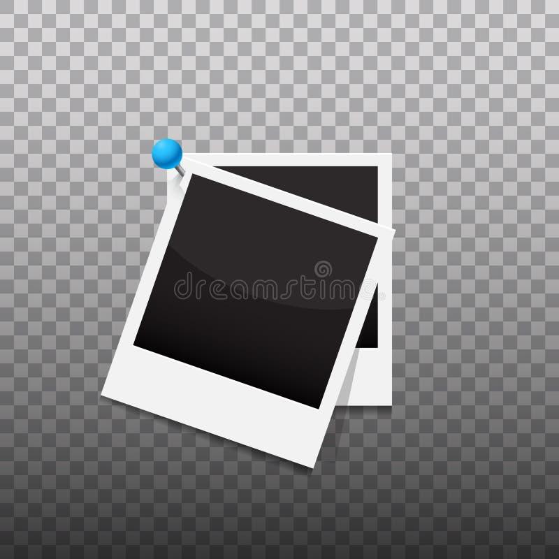空白的照片框架作为集合导航例证 向量例证