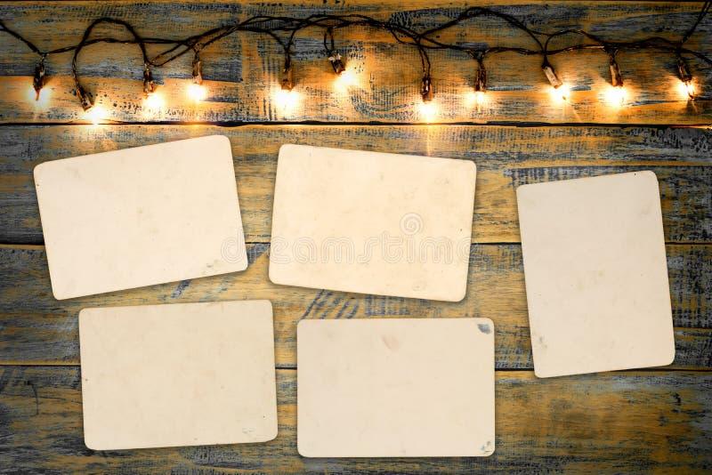 空白的照片框架册页 免版税库存照片