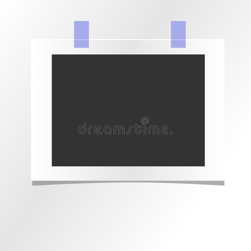 空白的照片框架模板设计传染媒介大模型 库存例证