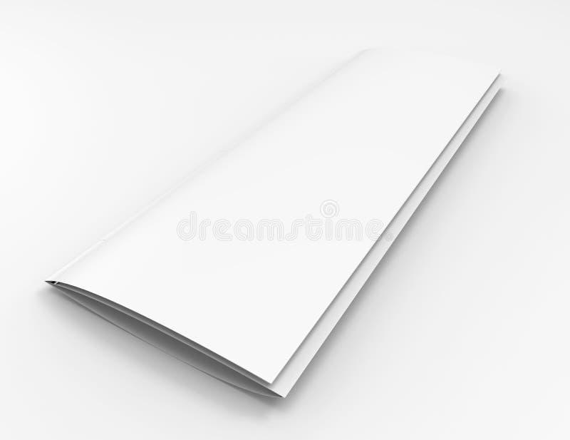空白的狭窄的编目或小册子 库存例证