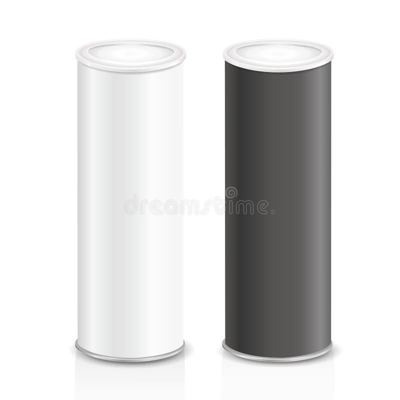 空白的狭窄的罐头 向量例证