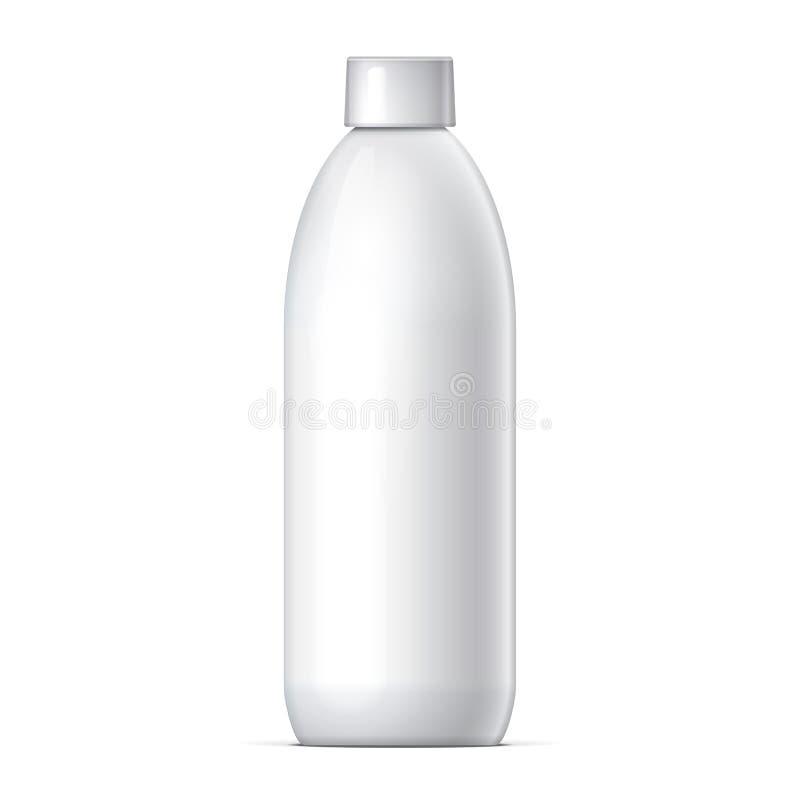 空白的瓶现实在白色背景传染媒介 向量例证