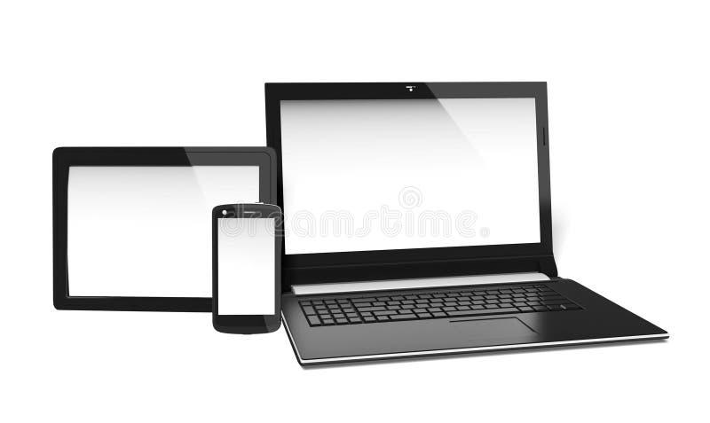 空白的电子屏幕 库存例证
