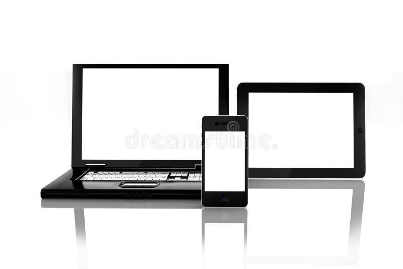 空白的电子屏幕 向量例证