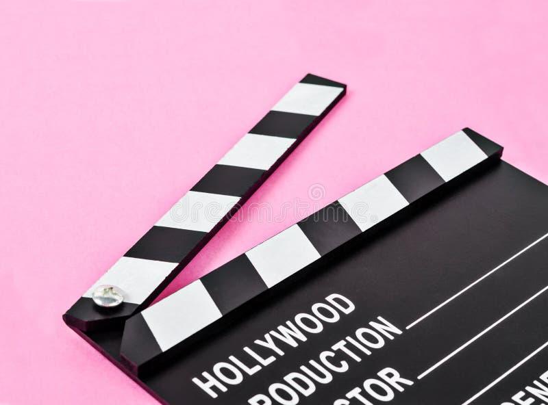 空白的电影生产拍板或板岩影片 库存图片