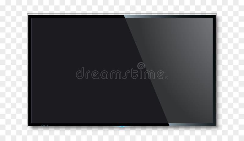 空白的电视屏幕传染媒介设计 数字式宽电视概念 传染媒介平的被带领的或lcd屏幕大模型 皇族释放例证