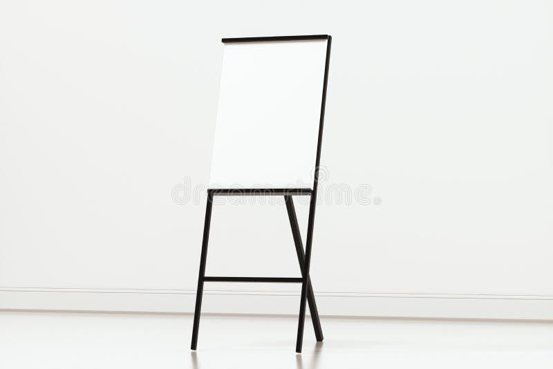 空白的画架板有白色背景,3d翻译 皇族释放例证
