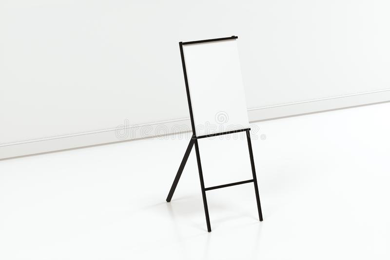 空白的画架板有白色背景,3d翻译 库存例证