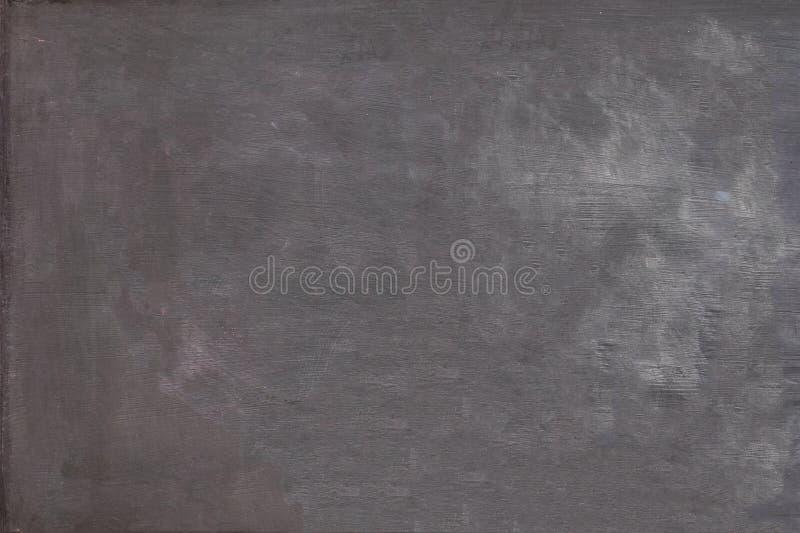 空白的白垩在黑板背景纹理摩擦了  免版税库存图片