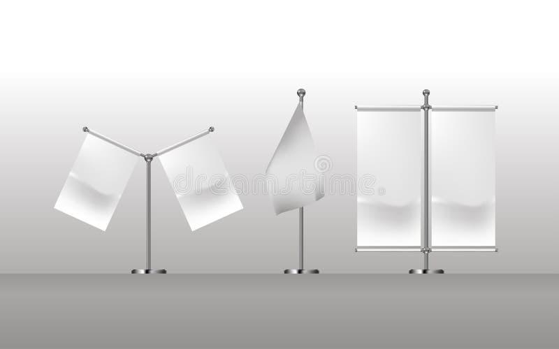 空白的白旗口袋表传染媒介 库存例证