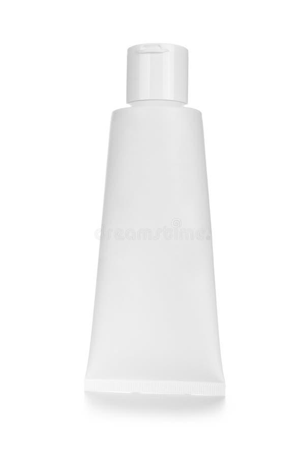 空白的白色化妆管盒奶油或胶凝体 图库摄影