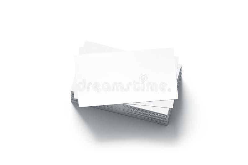 空白的白色名片堆嘲笑 向量例证