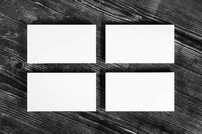 空白的白色名片 库存照片