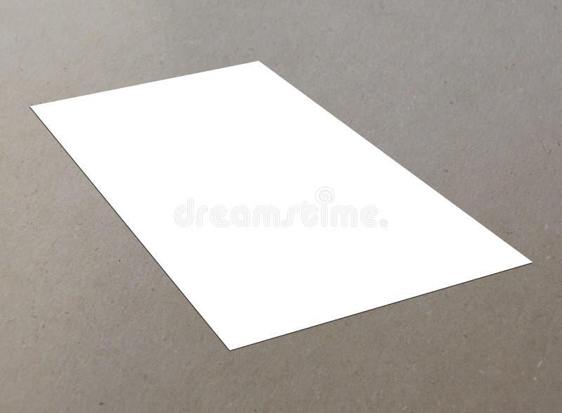 空白的白色唯一飞行物 库存图片