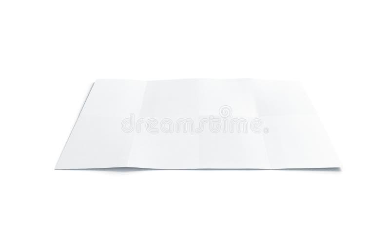 空白的白色图小册子嘲笑,隔绝 向量例证
