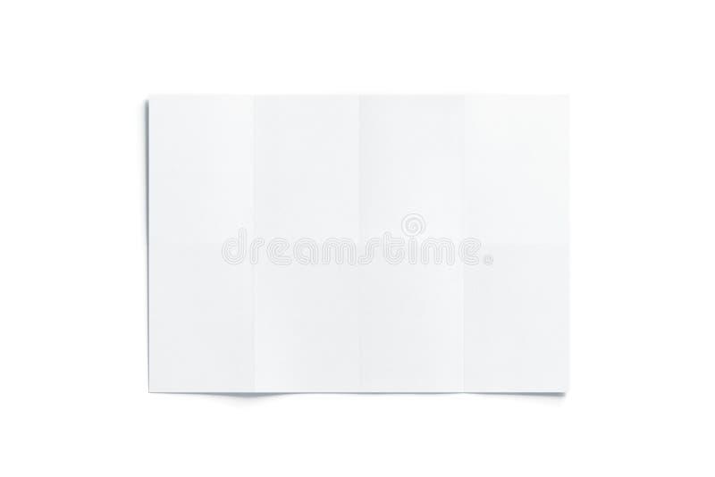 空白的白色图小册子大模型,被打开 向量例证