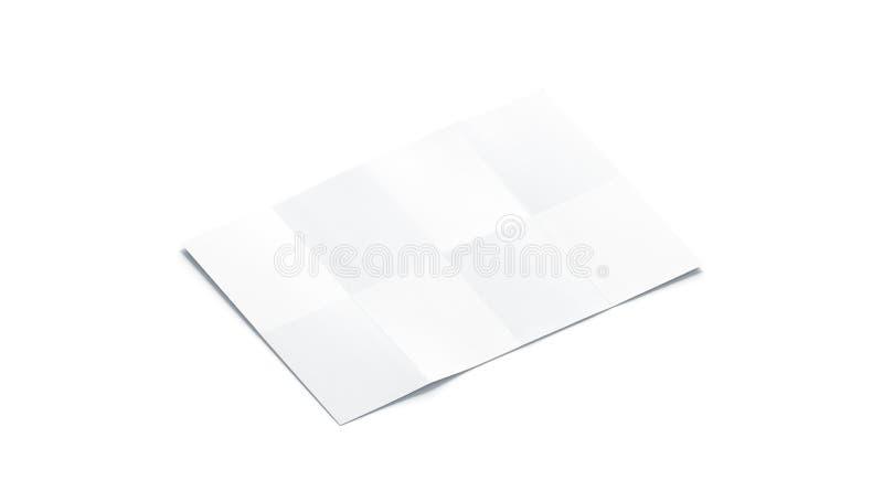 空白的白色图小册子大模型,被隔绝的,侧视图 库存例证
