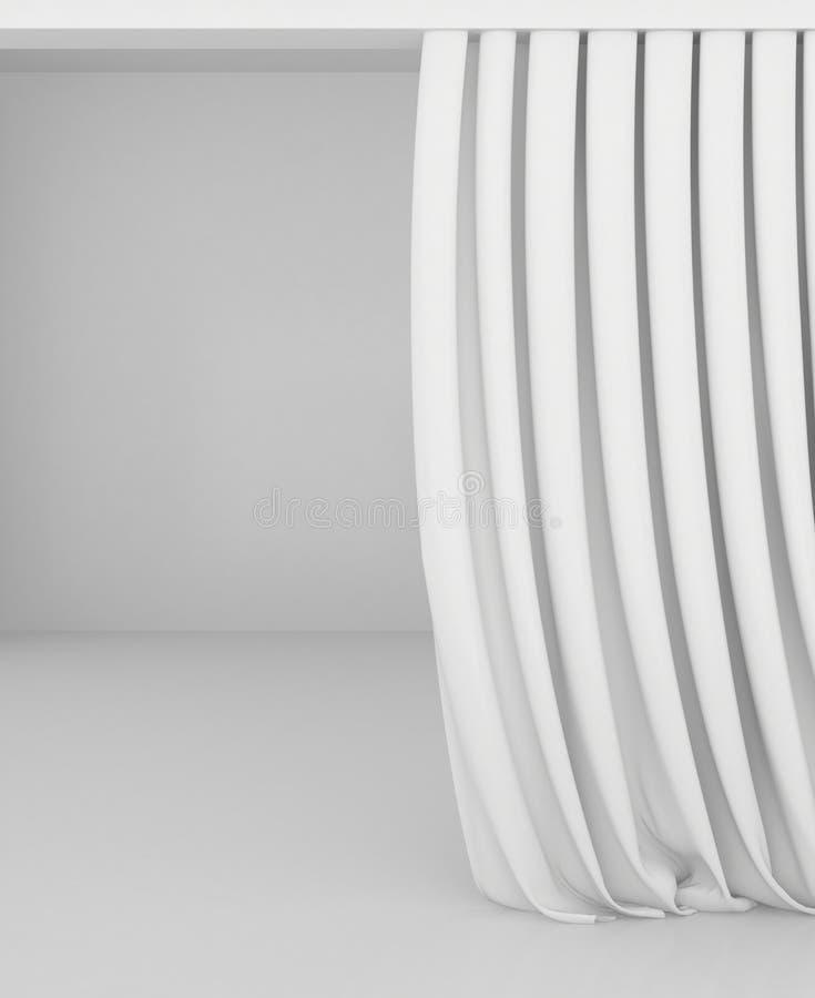 白白色家庭乱伦_空白的白色帷幕或在白灰色背景装饰