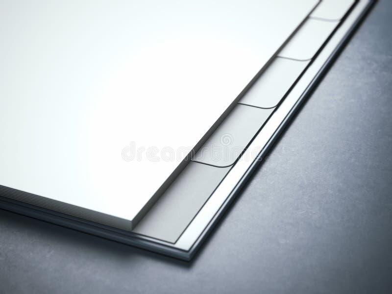 空白的白色日志在演播室 图库摄影
