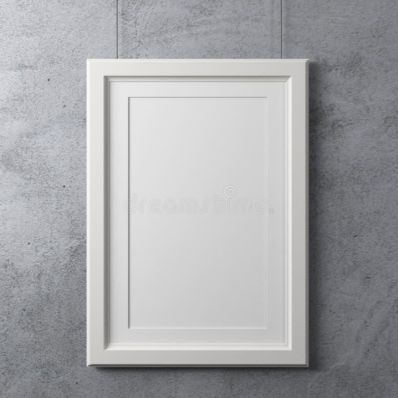 空白的白色框架 皇族释放例证