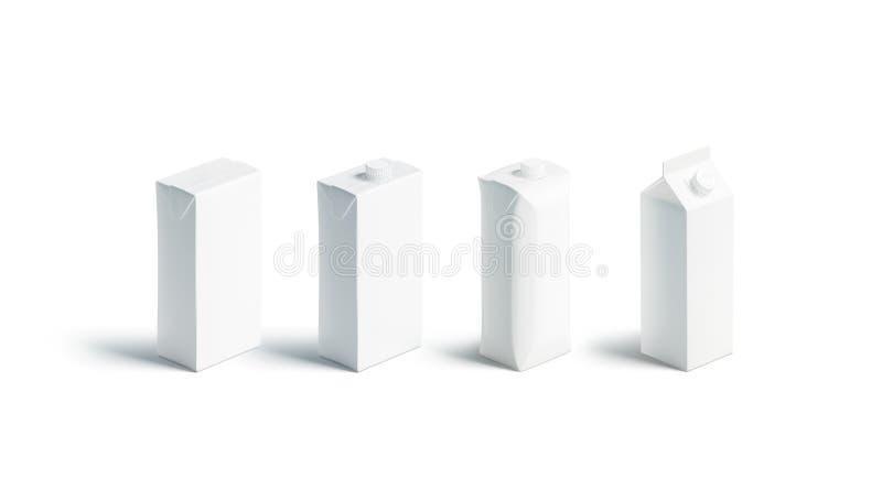 空白的白色汁液或牛奶组装大模型集合,不同 向量例证