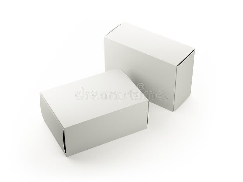 空白的白色箱子 库存照片