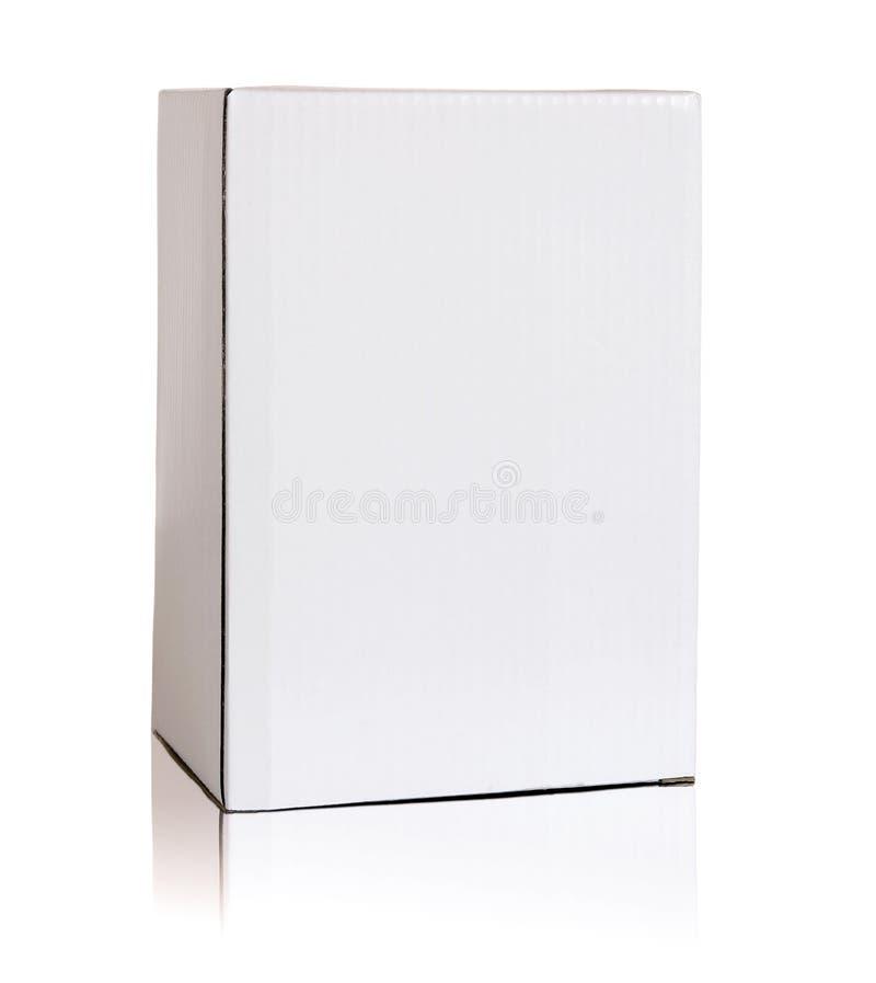 空白的白色纸板箱 库存图片