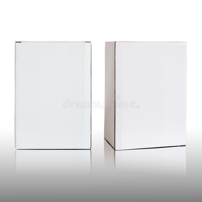 空白的白色纸板箱 免版税库存照片