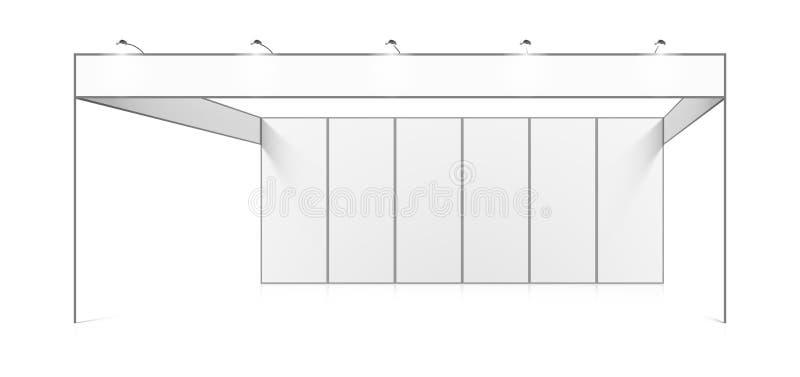 空白的白色贸易陈列立场 向量例证
