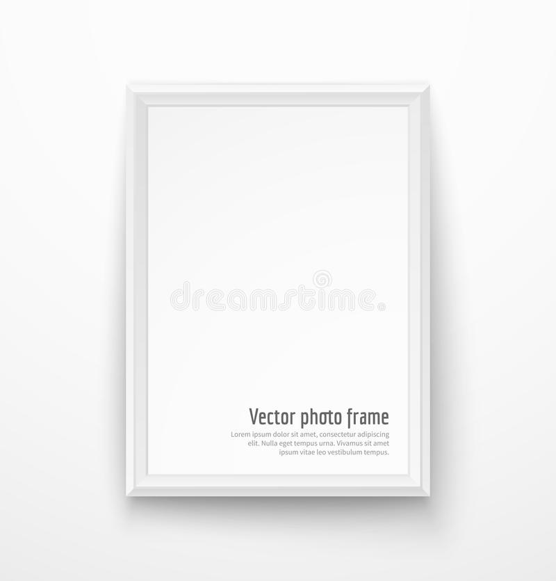 空白的白色画框 库存例证