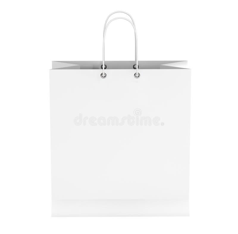 空白的白色购物袋 向量例证