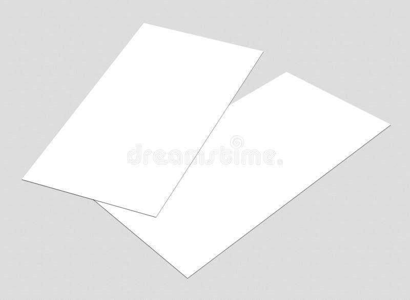 空白的白色4x8英寸飞行物收藏- 1 免版税库存照片